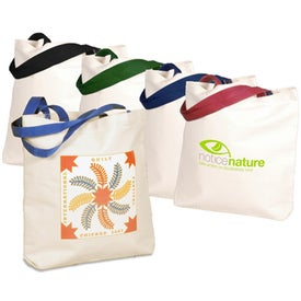 Natural Canvas Gusset Tote Bags