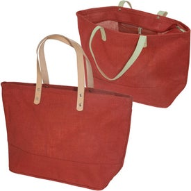 Hamptons Jute Tote with Your Slogan