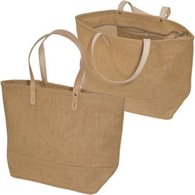 Hamptons Jute Tote Imprinted with Your Logo