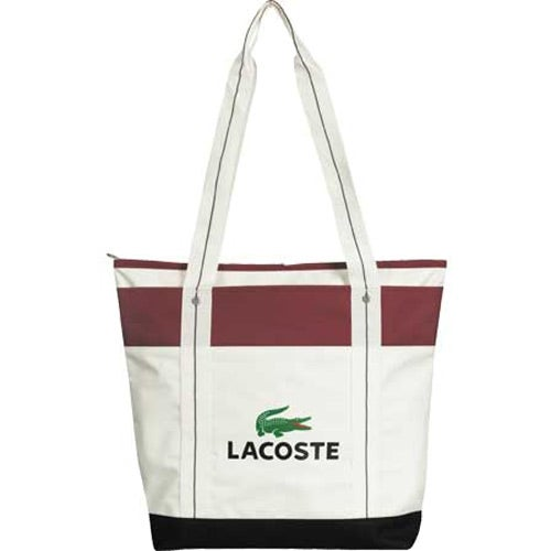 White / Burgundy Hamptons Getaway Tote Bag