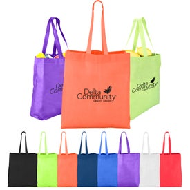Heat Sealed Non-Woven Value Tote with Gusset