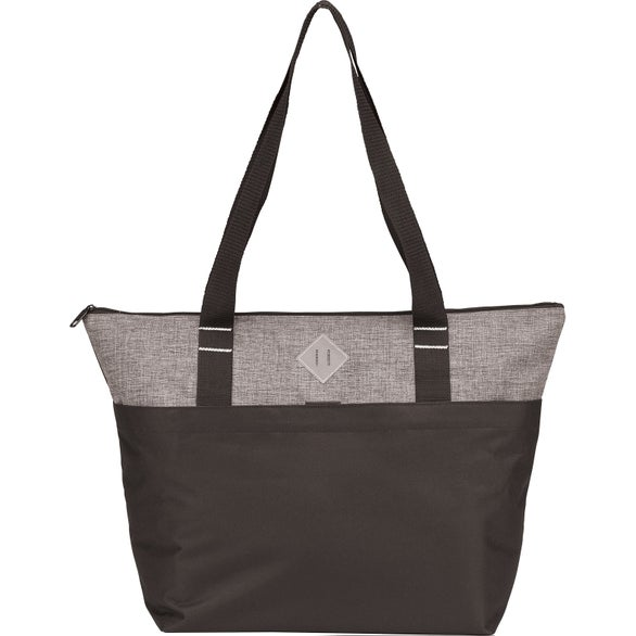 Gray Heather / Black Heather Travel Tote Bag