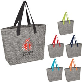 Heathered Mesh Tote Bags