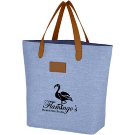 Heathered Leather Tag Tote Bag