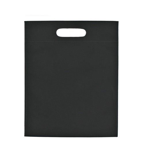 Black Heat Sealed Non-Woven Exhibition Tote Bag