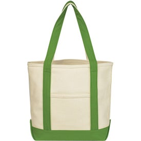 Small Heavy Cotton Canvas Boat Tote with Your Logo