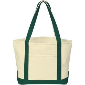 Monogrammed Heavy Cotton Canvas Boat Tote