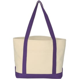 Logo Heavy Cotton Canvas Boat Tote Bag