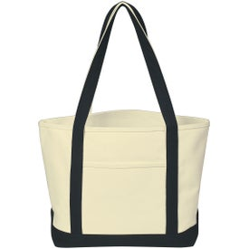 Branded Heavy Cotton Canvas Boat Tote Bag