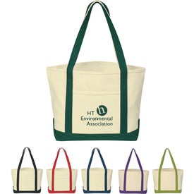 Heavy Cotton Canvas Boat Tote Bag (Screen Print)