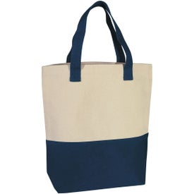 Heavy Cotton Canvas Two-Tone Tote Bag for Promotion
