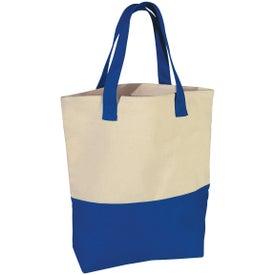 Custom Heavy Cotton Canvas Two-Tone Tote Bag