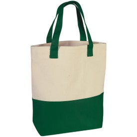 Promotional Heavy Cotton Canvas Two-Tone Tote Bag