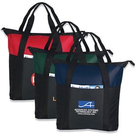 Heavy Duty Zippered Tote Bag for Advertising