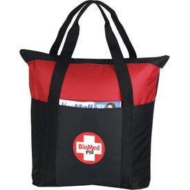 Imprinted Heavy Duty Zippered Tote Bag
