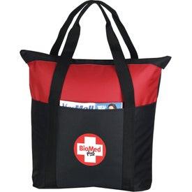 Imprinted Heavy Duty Zippered Tote Bag