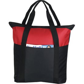 Advertising Heavy Duty Zippered Tote Bag