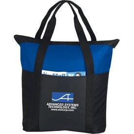 Printed Heavy Duty Zippered Tote Bag