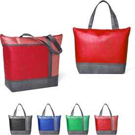 Hexagon Pattern Non-Woven Cooler Tote Bag