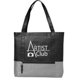 Hexagon Pattern Non-Woven Tote Bag