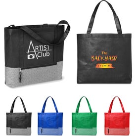 Hexagon Pattern Non-Woven Tote Bags