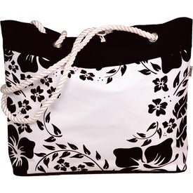 Branded Hibiscus Tote