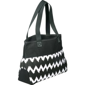 In Print Ikat Cotton Shopper Bag Branded with Your Logo