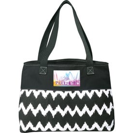 Logo In Print Ikat Cotton Shopper Bag