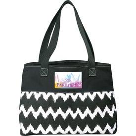 Logo In Print Ikat Cotton Shopper Bag