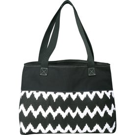 Promotional In Print Ikat Cotton Shopper Bag