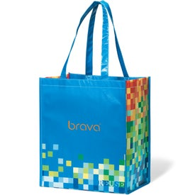 Inspirations Laminated Shopper Tote Bag Printed with Your Logo