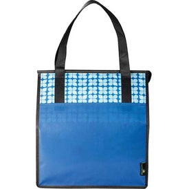 Laminated Non-Woven Insulated Big Grocery Tote Imprinted with Your Logo