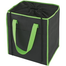 Insulated Drawstring Shopper Tote Bag Branded with Your Logo