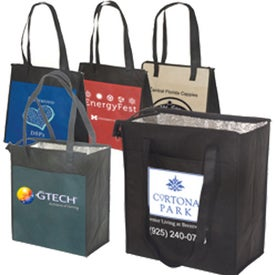 Imprinted Insulated Grocery Tote - 80GSM