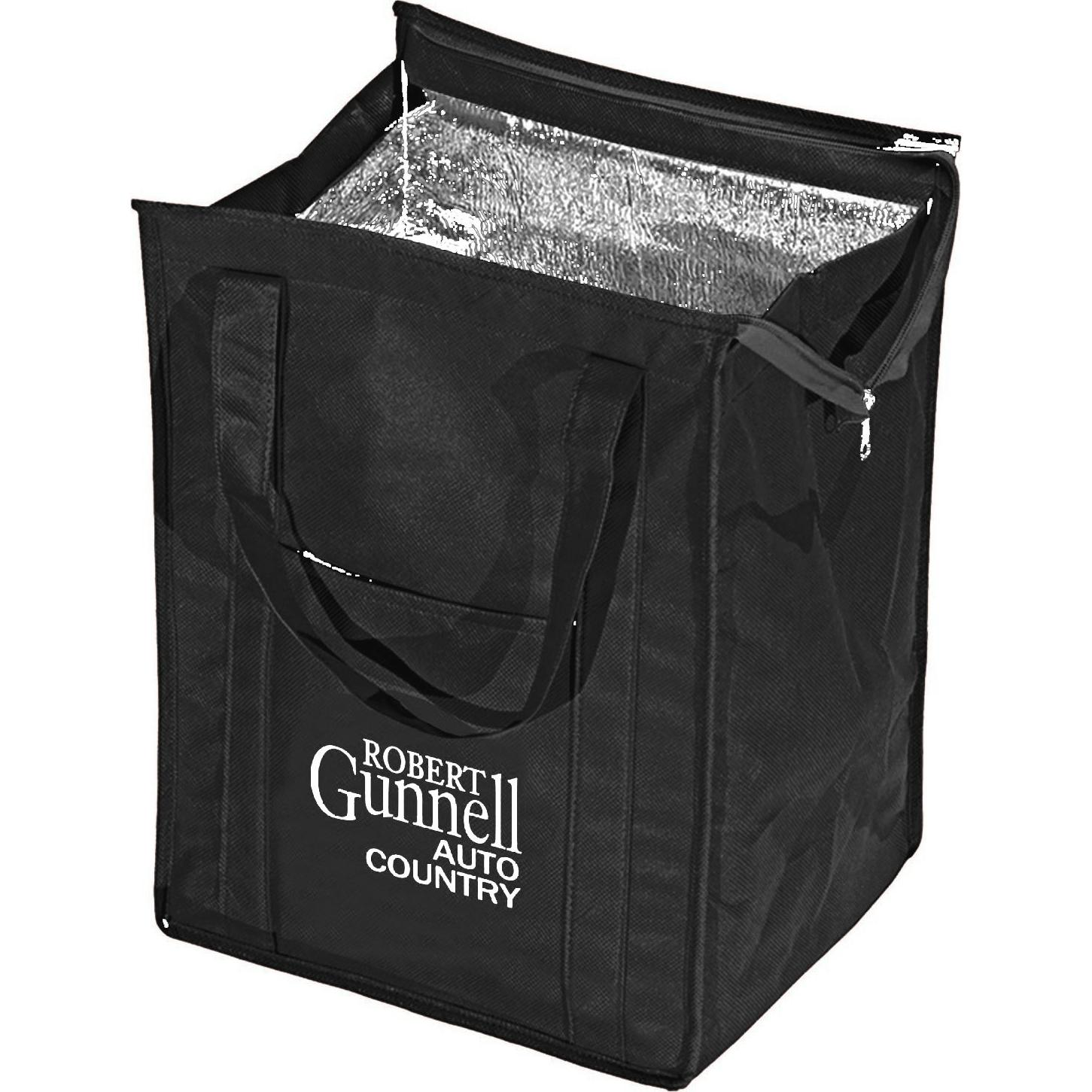 Lime Green Insulated Grocery Tote Personalized