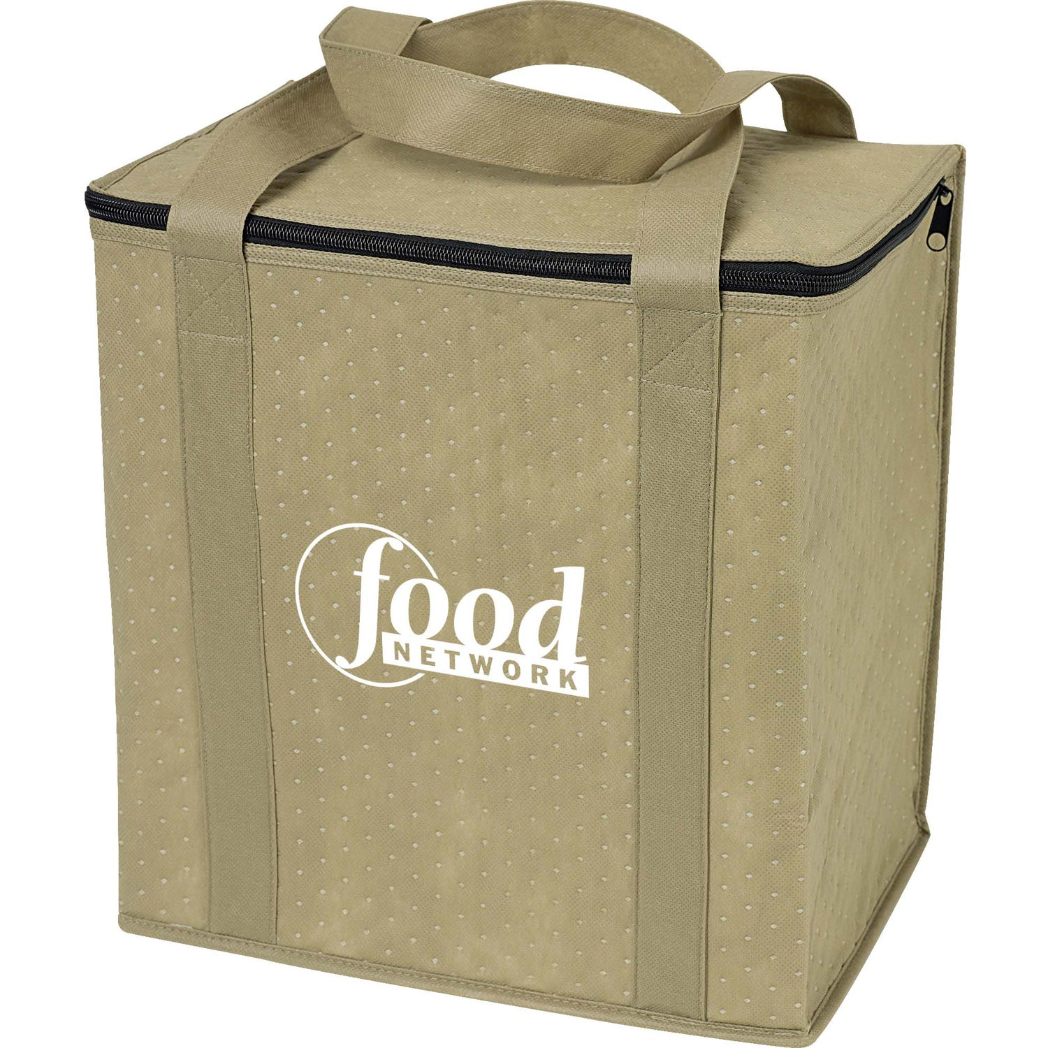 Tan Insulated Grocery Tote Bag For Your Company