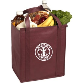 Monogrammed Insulated Large Non-Woven Grocery Tote Bag
