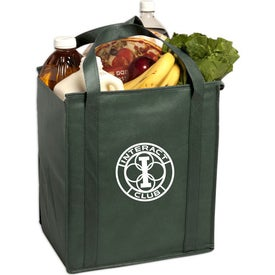 Logo Insulated Large Non-Woven Grocery Tote Bag