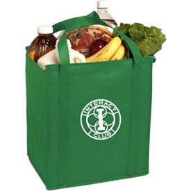 Personalized Insulated Large Non-Woven Grocery Tote Bag
