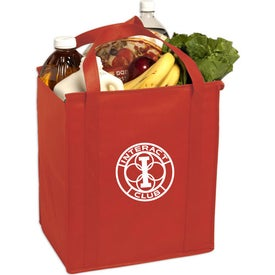 Insulated Large Non-Woven Grocery Tote Bag Imprinted with Your Logo