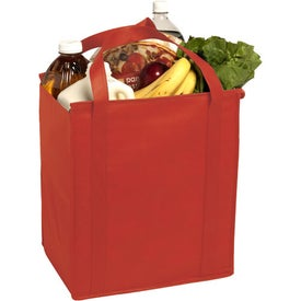 Printed Insulated Large Non-Woven Grocery Tote Bag