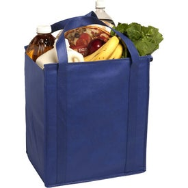 Insulated Large Non-Woven Grocery Tote Bag Branded with Your Logo