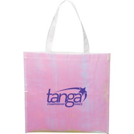 Iridescent Non-Woven Convention Tote Bag