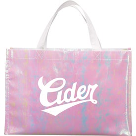 Iridescent Non-Woven Shopper Tote Bag