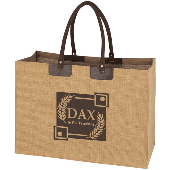 Natural Jumbo Jute Tote Bag