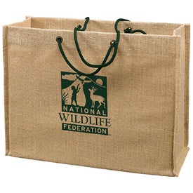 Jute Frankey Tote Bag Printed with Your Logo