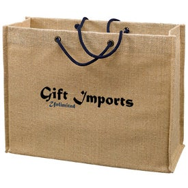 Jute Frankey Tote Bag with Your Slogan