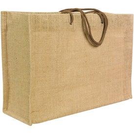 Jute Frankey Tote Bag for Advertising