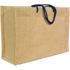 Personalized Jute Frankey Tote Bag