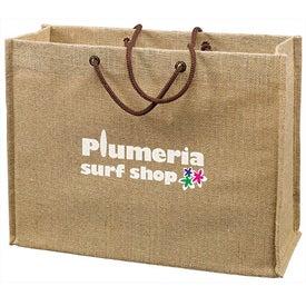 Logo Jute Frankey Tote Bag